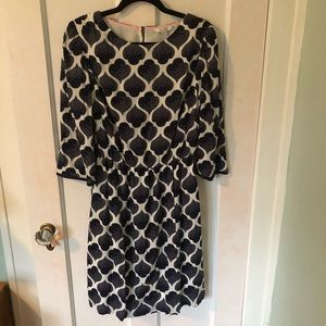 Boden dress - navy print pattern